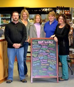 L-R: Kevin Tincher, Owner, Mollly Shanley, Judy Alexander-Eitzman, Lee-Ann Haley, Liz Tincher, Owner.